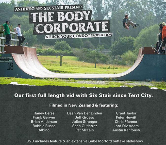 ANTIHERO The Body Corporate DVD