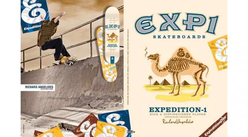 EXPEDITION ONE エクスペディションワン スケボー 通販 スケートボード デッキ ブランド Richard Angelides リチャード・アンジェリデ