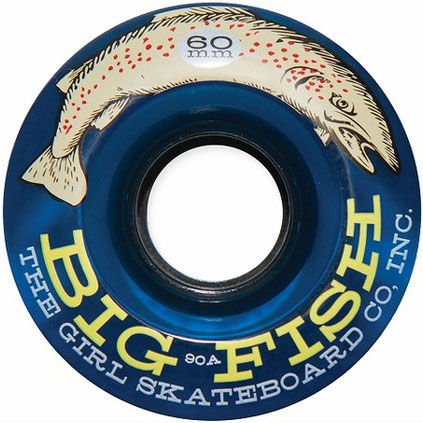 GIRL WHEEL BIG FISH 90A 60mm BLUE