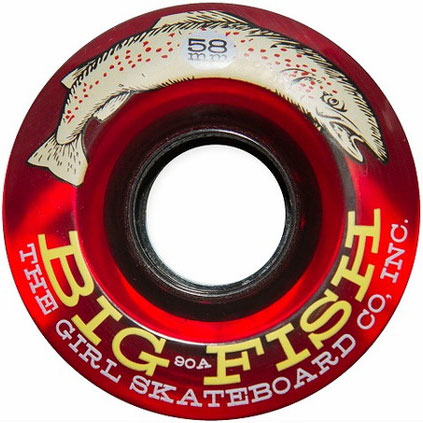 GIRL WHEEL BIG FISH 90A 58mm RED