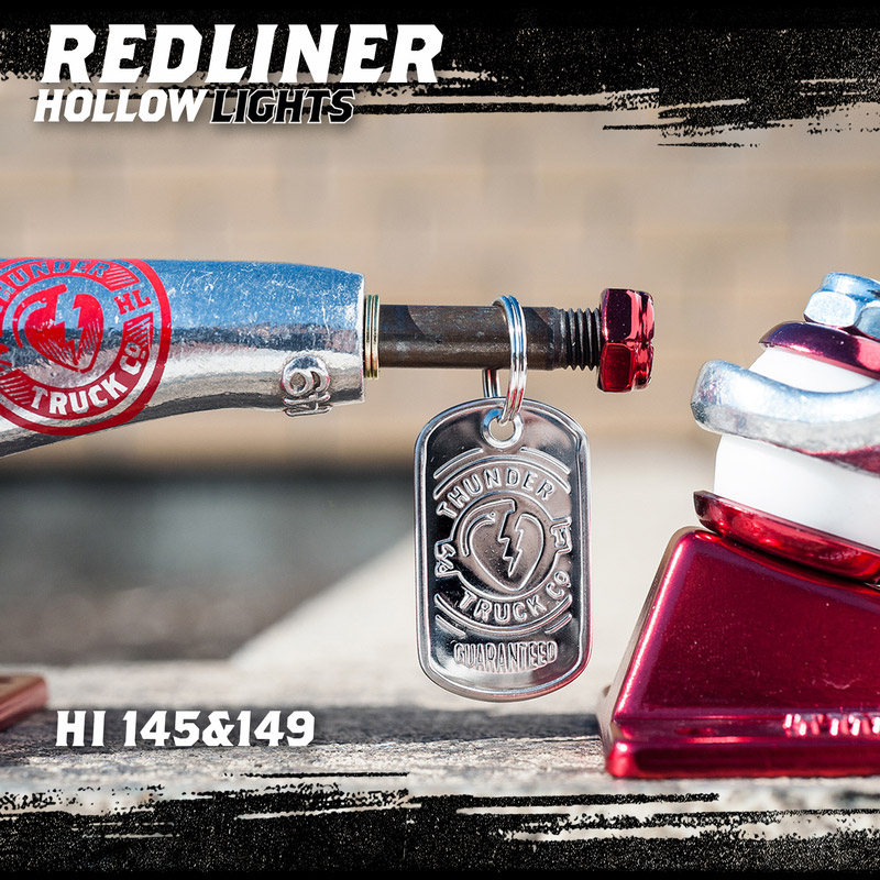 THUNDER トラック RED LINER HOLLOW  (SILVER/RED)