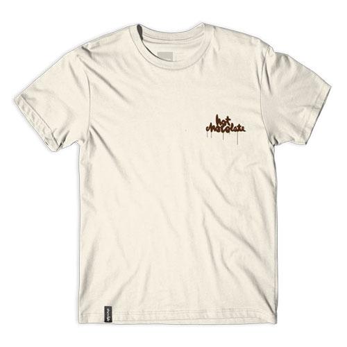 CHOCOLATE CINEMA HOT CHOCOLATE Tシャツ クリーム