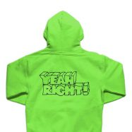 GIRL YEAH RIGHT ZIP-UP パーカー ライムグリーン