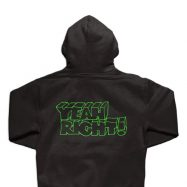 GIRL YEAH RIGHT ZIP-UP パーカー ブラック