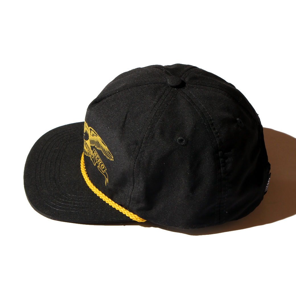 ANTIHERO BASIC EAGLE SNAPBACK CAP ブラック