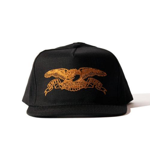 ANTIHERO SNAPBACK CAP イーグル ブラック