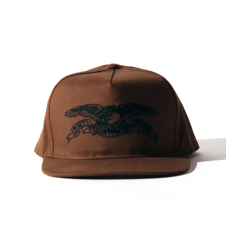 ANTIHERO SNAPBACK CAP イーグル ブラウン