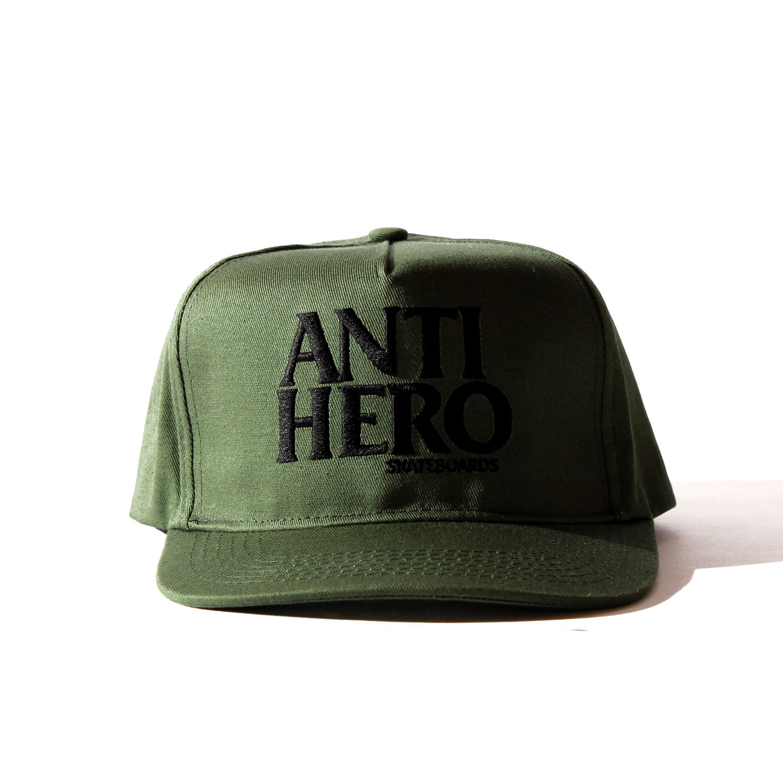ANTIHERO SNAPBACK CAP オリーブ