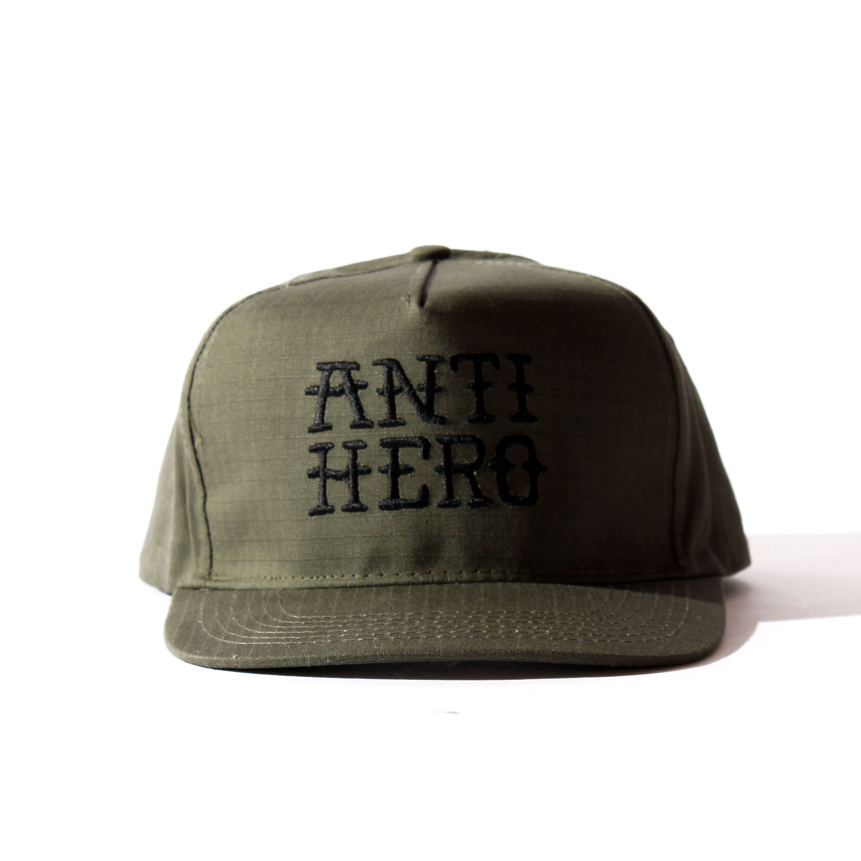 ANTIHERO SNAPBACK CAP リップストップオリーブ