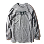 ANTIHERO STOCK EAGLE L/S Tシャツ グレー
