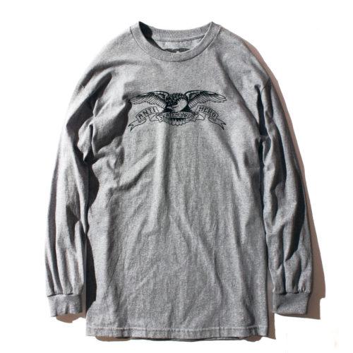 ANTIHERO STOCK EAGLE L/S Tシャツ グレー