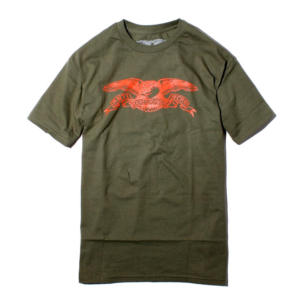 ANTIHERO アンタイヒーロー EAGLE イーグル Tシャツ スケーター ファッション 通販 オリーブ
