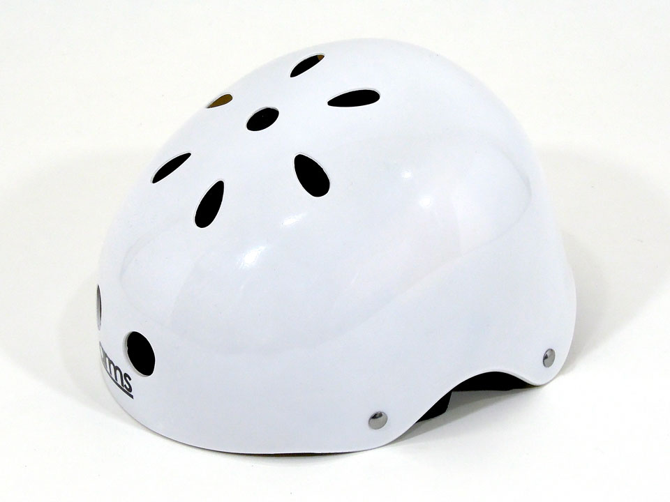 arms スケボー ヘルメット ホワイト