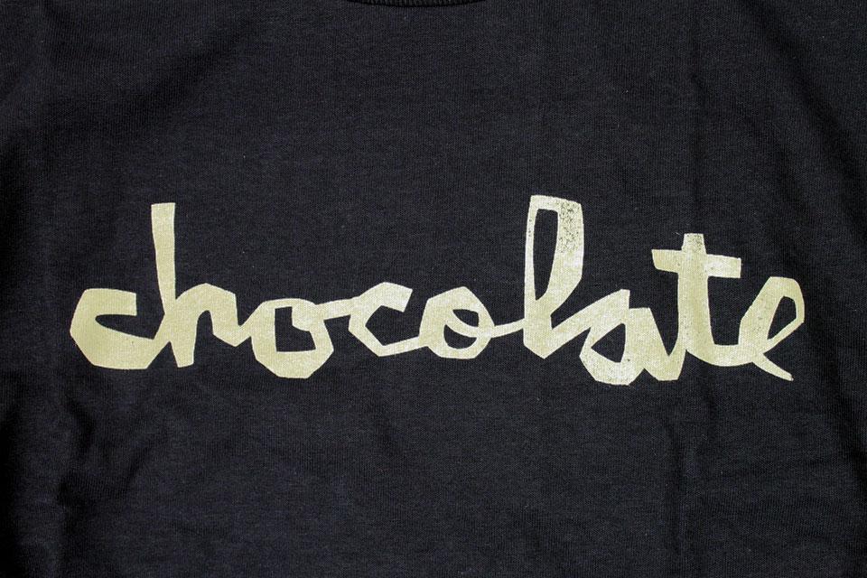 Chocolate DISTRESS チャンクロゴ Tシャツ ブラック