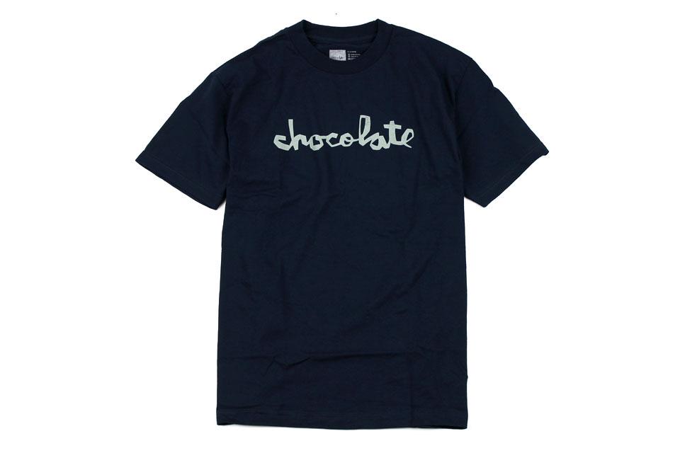 Chocolate DISTRESS チャンクロゴ Tシャツ ネイビー