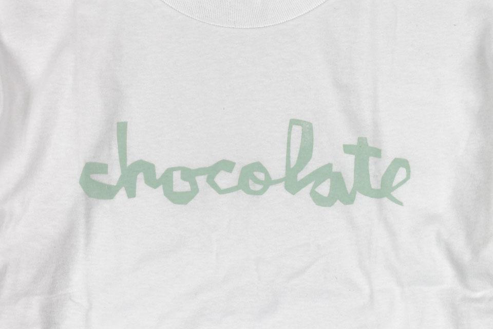 Chocolate DISTRESS チャンクロゴ Tシャツ ホワイト