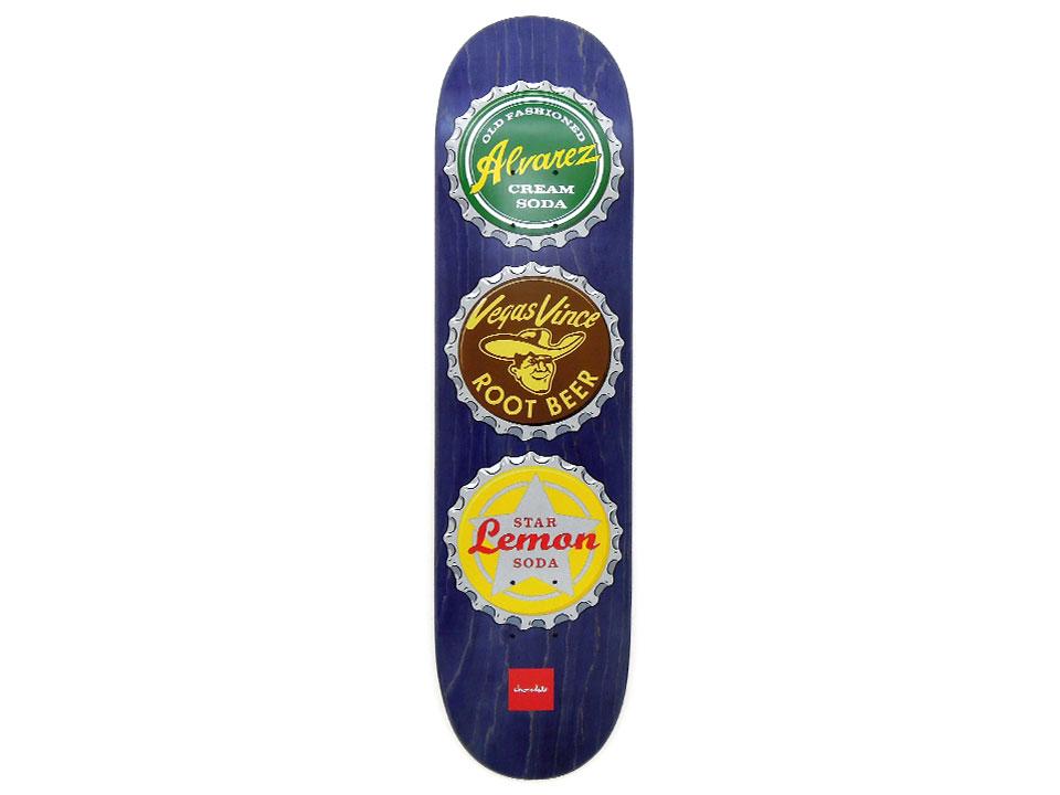 スケボー 通販 スケートボード デッキ Chocolate Skateboards BOTTLE CAPS Vincent Alvarez チョコレート ボトルキャップ ビンセント・アルバレス
