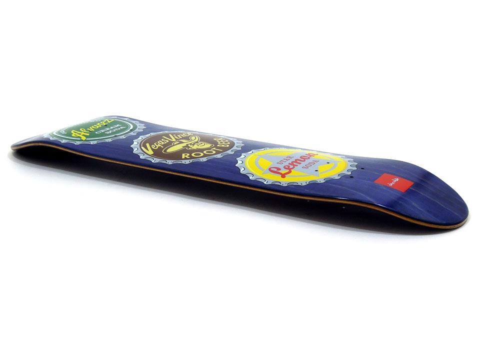 スケボー 通販 スケートボード デッキ Chocolate Skateboards BOTTLE CAPS Vincent Alvarez チョコレート ボトルキャップ ビンセント・アルバレス 全体