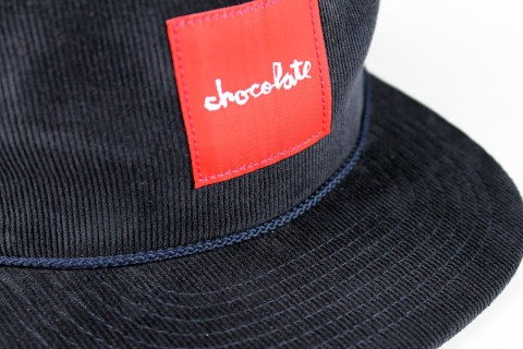 Chocolate コーデュロイキャップ ネイビー ロゴ