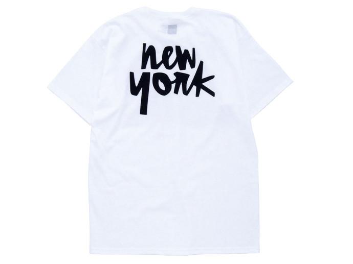 Chocolate CITY CHUNK Tシャツ ホワイト New York ニューヨーク 後ろ