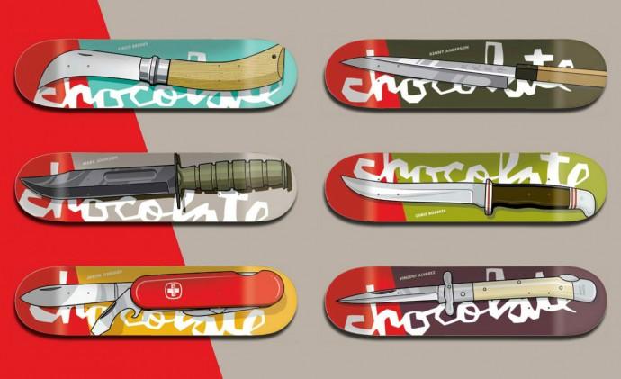 スケボー 通販 スケートボード デッキ Chocolate チョコレート KNIFE ナイフ Evan Hecox