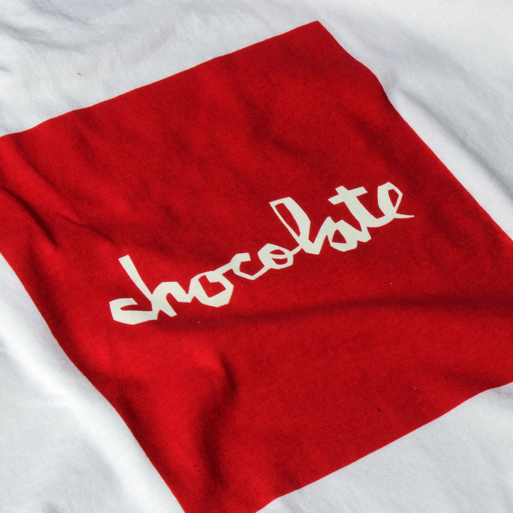 Chocolate SQUARE CHUNK Tシャツ ホワイト