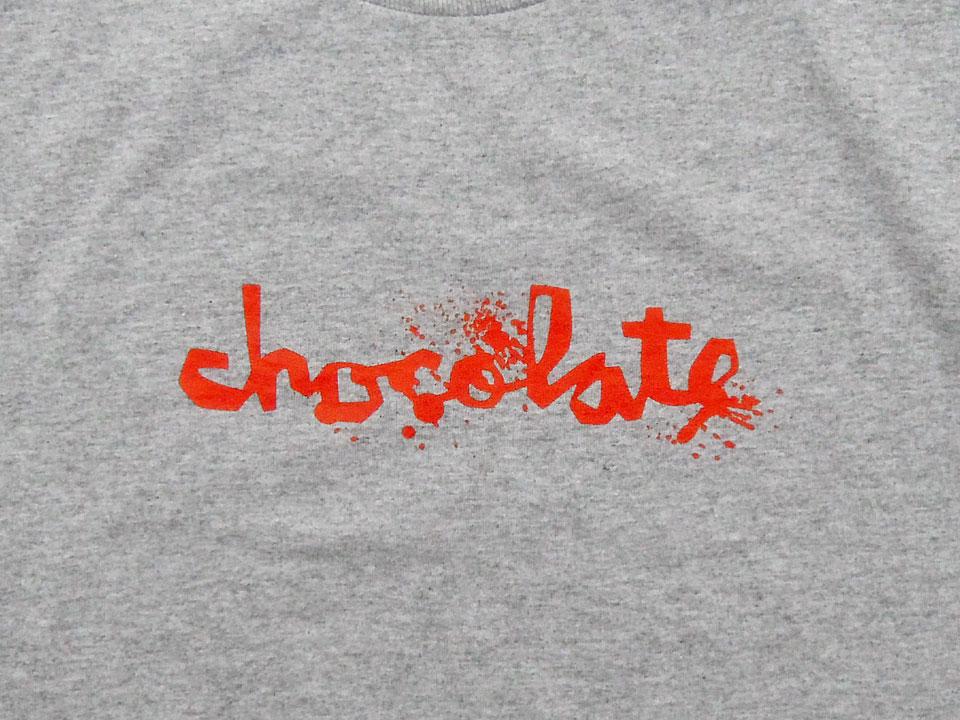スケボー 通販 Tシャツ Chocolate チョコレート ZONBIE FLIP UP ゾンビ フリップ アップ グレー チャンクロゴ