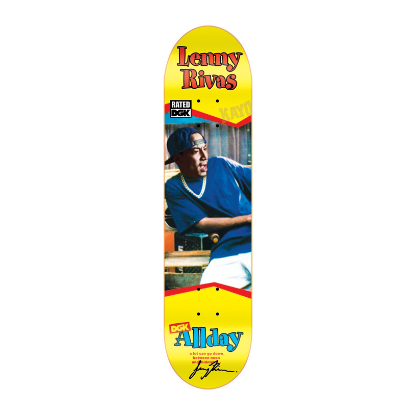 DGK Skateboards スケボー スケートボード デッキ 通販 Deck Lenny Rivas RATED