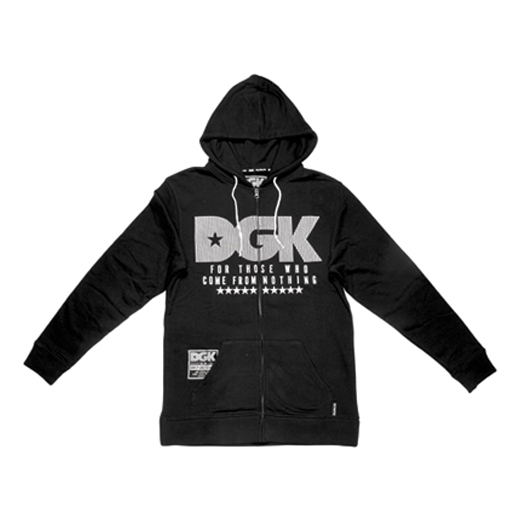 DGK Skateboards スケボー スケートボード 通販 From Nothing Zip Hood Black