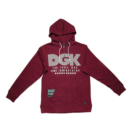 DGK Skateboards スケボー スケートボード 通販 From Nothing Zip Hood Burgandy