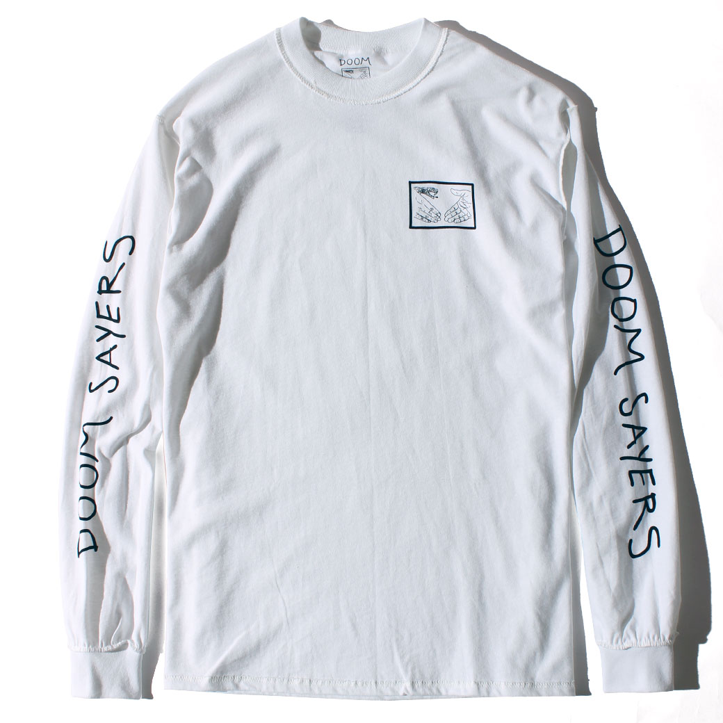 DOOM SAYERS INSIDE OUT SNAKE SHAKE L/S Tシャツ ホワイト