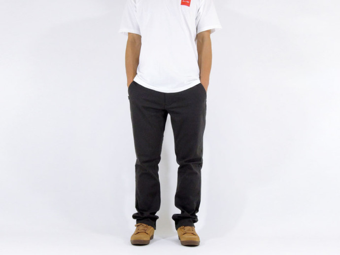 FOURSTAR CARROLL Chino Straight Slim グレー モデル1