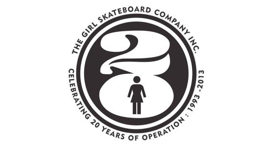 GIRL SKATEBOARD 20周年ロゴ