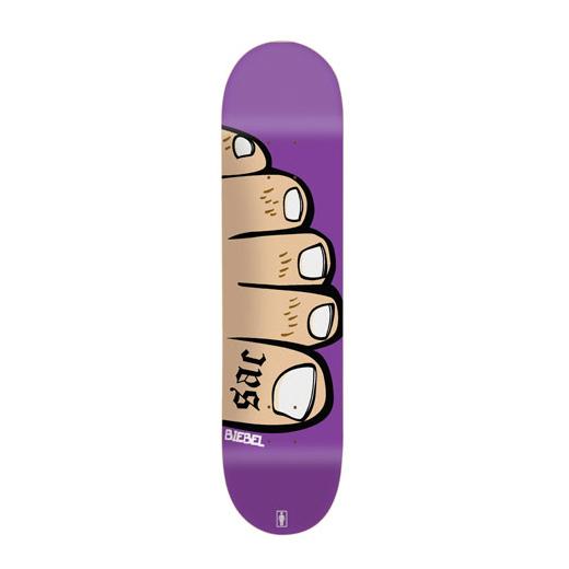 GIRL Skateboard Brandon Biebel TOES 01