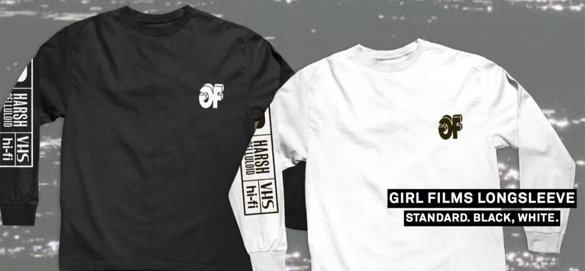 GIRL FILMS LONGSLEEVE Tシャツ