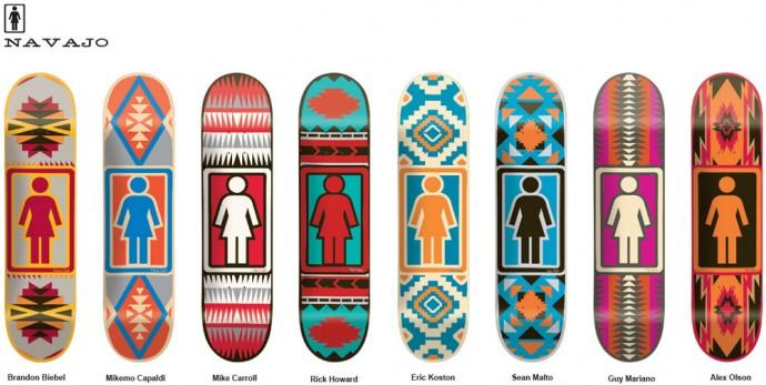 スケボー スケートボード デッキ 通販 GIRL ガール Skateboards NAVAJO ナバホ