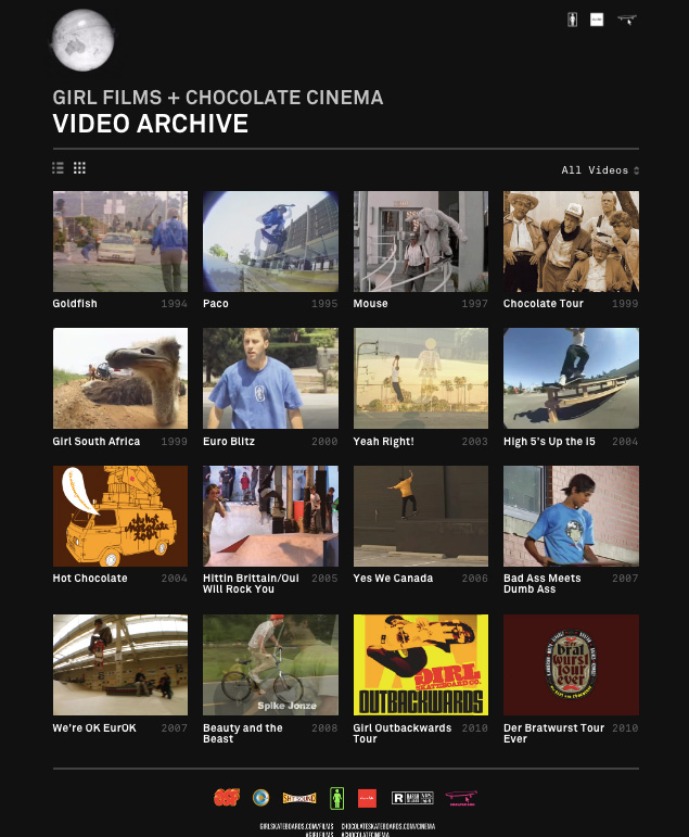 GIRL FILMS + CHOCOLATE CINEMA VIDEO ARCHIVE