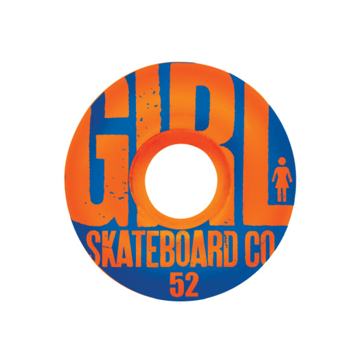 GIRL Skateboards スケボー スケートボード ウィール BIG GIRL GRAIN Orange 52mm