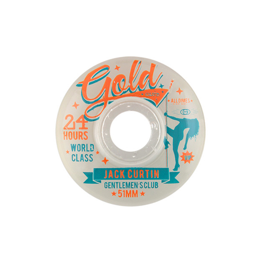Gold Wheels スケボー スケートボード ウィール GENTLEMEN'S CLUB Jack Curtin 51mm