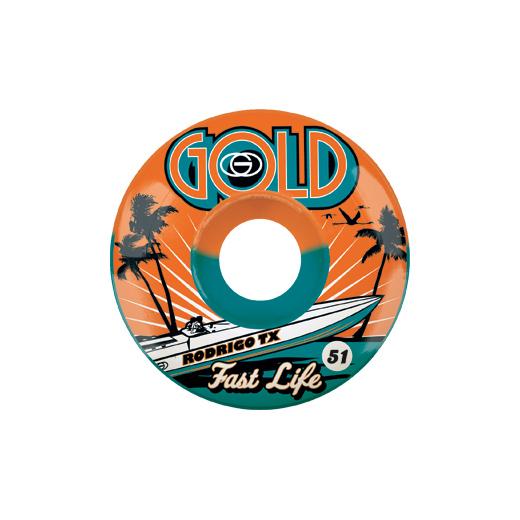 Gold Wheels スケボー スケートボード ウィール FAST LIFE 51mm