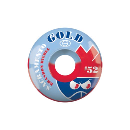 Gold Wheels スケボー スケートボード ウィール SACTO Brandon Biebel 52mm