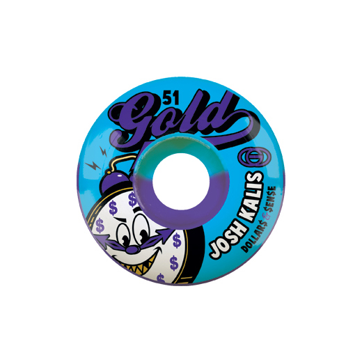 Gold Wheels スケボー スケートボード ウィール CLOCKERS Josh Kalis 51mm