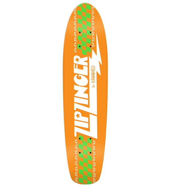 KROOKED Zip Zinger Classic(オレンジ)チーム・モデル 7.5インチ