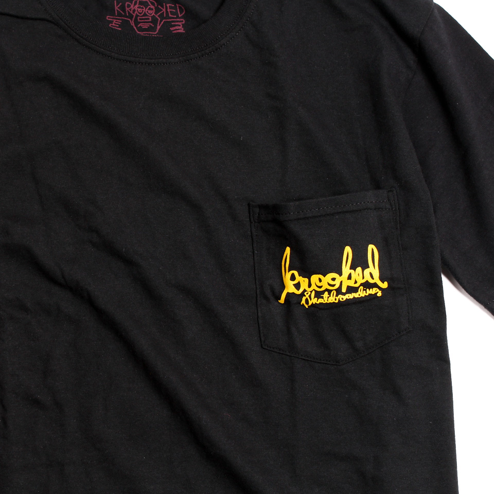 KROOKED SIGNATURE SK8 Tシャツ ブラック