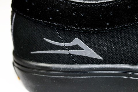 LAKAI RILEY HAWK ブラック/ブラック スエード ロゴ
