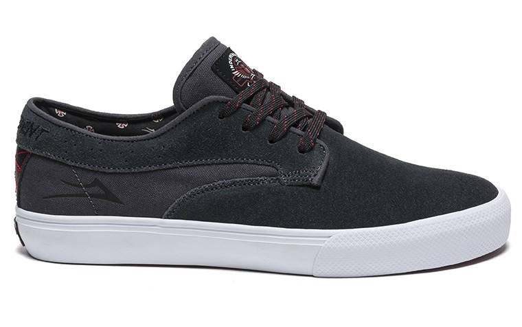 LAKAI INDEPENDENT RILEY HAWK CHARCOAL SUEDE