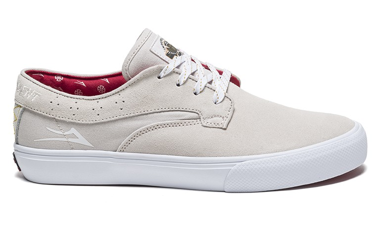 LAKAI INDEPENDENT RILEY HAWK WHITE SUEDE