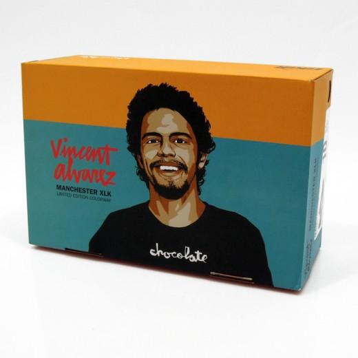 LAKAI スニーカー スケボー スケートボード 通販 MANCHESTER XLK Black/Gum Suede Chocolate ボックス拡大