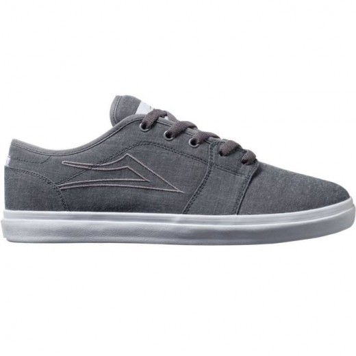LAKAI LIMITED FOOTWEAR JUDO Black Chambray Canvas 01