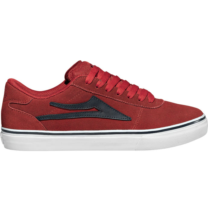 LAKAI LIMITED FOOTWEAR MANCHESTER SELECT Red/Navy Suede 01